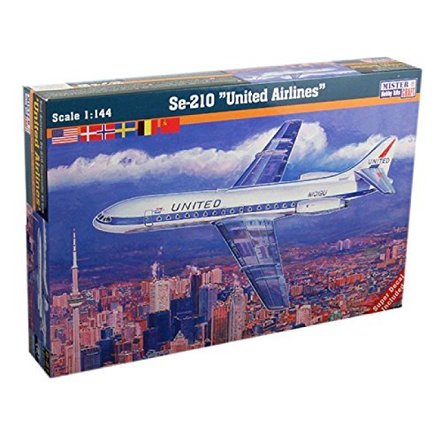 mistercraft-se-210-caravelle-united-airlines-plastic-model-kit-by-mistercraft