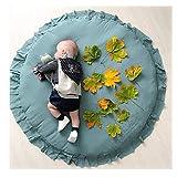 XLGX Tapis éveil Jeu Bébé, Bébé Couverture Matelas pour Tout-petits Tapis de jeu Tapis enfants antidérapante Sleeping Coussin Coussin Coton Animaux Moquette (Vert)