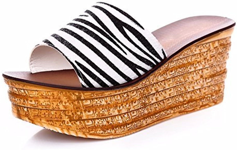 Yingsssq Flip Flops Kids Trascina la Parola Spessa sul sul sul Fondo Esci col Tacco (Coloreee   Zebra Pattern, Dimensione... | Di Qualità Fine  b31d3c