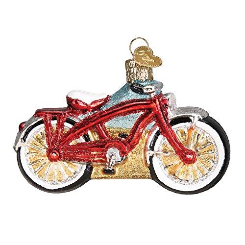 Old World Weihnachten Bike Glas geblasen Ornament Cruiser Bike -
