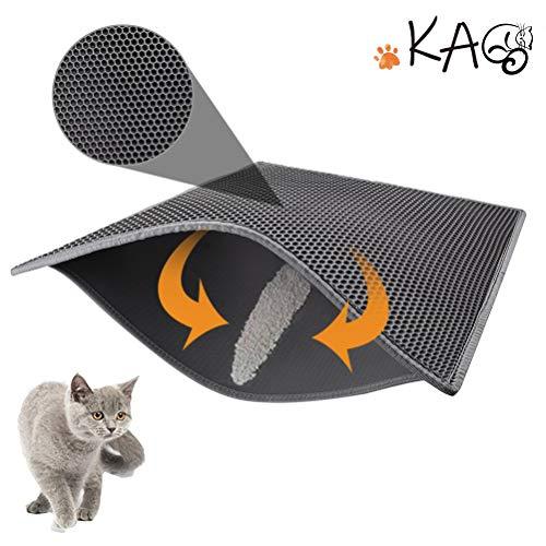 kaxionage Katzenklo Matte, Katzenstreu Matte 24x15 inch Katzenklo Unterleger Waben Design Katzenklo...