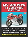 MV Agusta F4 750 and 1000 1997-2007 Road Test Portfolio (Brooklands Road Test Portfolio)