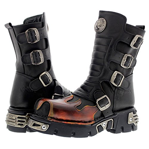 New Rock Womens M.591X-S1 Leather Boots Schwarz