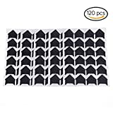 Packung aus 120 selbstklebenden Fotoecken aus 5 Blättern von Bestim Incuk für Scrapbook, Bilder, Albume, Tagebücher schwarz