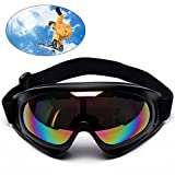 Motorradbrillen, Ski Schutzbrillen, Motorradbrille Schutzbrille, Schutzbrillen Windundurchlässige Anti-UV Anti Fog UV Schutzbrille Motorradbrillen Hochwertige Skibrille für Outdoor Aktivitäten Skifahr (Mehrfarbig)