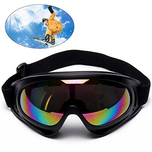 Produktbild Motorradbrillen, Ski Schutzbrillen, Motorradbrille Schutzbrille, Schutzbrillen Windundurchlässige Anti-UV Anti Fog UV Schutzbrille Motorradbrillen Hochwertige Skibrille für Outdoor Aktivitäten Skifahren Radfahren Snowboard Wandern Augenschutz