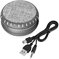 Zerone Portable Compact Wireless Bluetooth Speaker Hand-Free Calls Stereo Music USB Wireless Speaker FM TF Support 2 Hours Playtime(Gris)