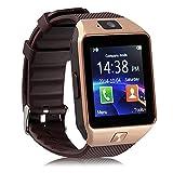 Sport Smartwatch Bluetooth Smart Uhr Watch Fitnessarmband mit 1.54 Zoll Display / SIM Kartenslot / Schrittzähler / Schlafanalyse / SMS Facebook Vibration für Android Smartphone DZ09 Gold