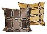 Kissenhülle Zierkissen cm 60x 60Zucchi Collection mit Reißverschluss Kissen Bett Sofa 100% Satin-Baumwolle CAMEO - FANGO