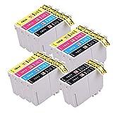 PerfectPrint - 14 cartuchos de tinta PerfectPrint compatibles para Epson XP- 102 XP- 202 XP- 212 XP- 215 XP- 205 XP- 225 XP- 30 XP- 302 XP- 305 XP- 312 XP- 315 XP- 322 XP- 325 XP- 402 XP -412 XP- 415 XP- 405 XP- 405WH XP- 422 XP- 425