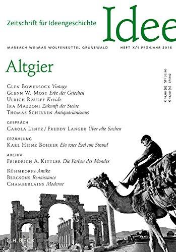 Zeitschrift für Ideengeschichte Heft X/1 Frühjahr 2016: Altgier