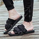 XING GUANG Männer Flip-Flops Koreanische Männer und Frauen Hausschuhe Rutschfeste Paar Strand Schuhe Vietnams Sandalen Personalisierte Gezeiten Schuhe,Black(39/40)