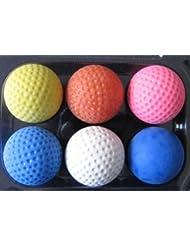 World of Golf GW-6BallPro Pro-Set - Mini pelotas de golf (diferentes durezas, 6 unidades), multicolor