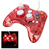 GOZAR Usb Glow Kabel Controller Gamepad Fit For Microsoft Xbox 360 - Rot