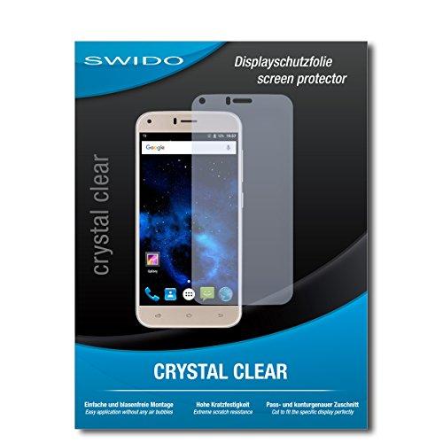 SWIDO Bildschirmschutz für UMIDIGI Diamond X [4 Stück] Kristall-Klar, Hoher Härtegrad, Schutz vor Öl, Staub & Kratzer/Schutzfolie, Bildschirmschutzfolie, Panzerglas Folie