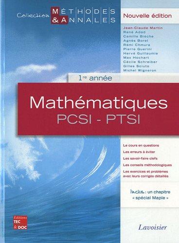 Mathématiques PCSI-PTSI 1re année