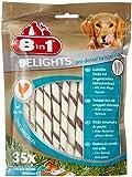 8in1 Delights Pro Dental Twisted Sticks (funktionaler und gesunder Kausnack, gedrehtes Fleisch, Mineralien zur effektiven Plaqueentfernung bei Hunden), 35 Stück (190 g Beutel)