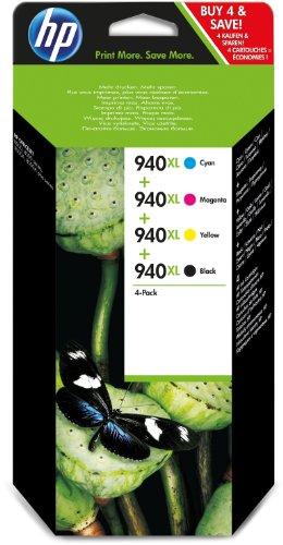 Preisvergleich Produktbild Hewlett Packard C2N93AE Tintenpatrone 940XL, 4-er Pack