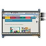 Makibes Avec Bicolor Case, Compatible avec Raspberry Pi 3 Model B, 7 pouces écran tactile capacitif LCD HDMI 800 x 480 pour all Raspberry Pi (Raspberry Pi 2 Modèle B / Raspberry Pi modèle B / B + / A +)