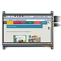 Makibes 7Pollici 800 x 480 HDMI LCD (B) Capacitivo Schermo di Tocco Bicolor Guscio Compatibile per Tutti Raspberry Pi B/A+/B+/2B,Banana Pi/BB Black/Mini PC