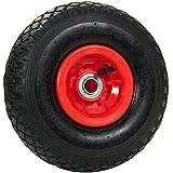 Pro de diseño de Tec 2pieza Rueda para carretilla con rodamiento de bolas y monatgematerial, Rojo, 10113