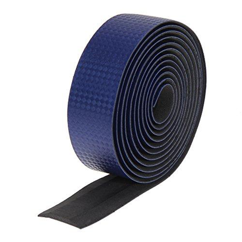 Everpert Cycling Cork Lenkerband Schwarz + 2 Bar Plug Kohlefaser blau