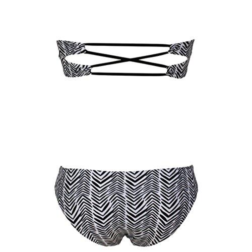 Mode fUEr Frauen Striped zweiteilige trAEgerloser BUEstenhalter Badeanzug Badebekleidungs StAEmme Kurz Photo Farbe