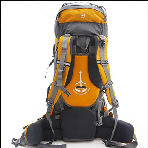 75L wasserdichte Outdoor-Sport Wandern Trekking Camping Rucksack Pack Bergsteigen Klettern Tasche für Männer / Frauen pfauenblau