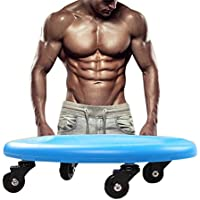 Comparador de precios Dee Plus - Disco de fitness abdominal para cuatro ruedas, rodillo deslizante para equipamiento, Ultimate Core Trainer, gimnasio, casa abdominal y equipo de entrenamiento corporal total, bolsas de almacenamiento de regalo y rodilleras, color azul - precios baratos