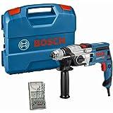 Bosch Professional 060117B401 Trapano con Percussione GSB 20-2, Numero Vuoto 3.000 Giri/min, con Set di Accessori, in Valiget