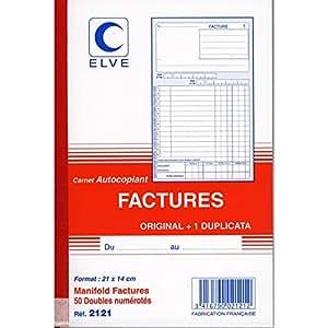 ELVE Manifold FACTURES 210 x 140 mm 50 feuillets Dupli