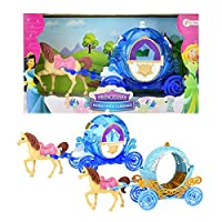 Toi-Toys 12780Z Horse with Carriage Two Piece Horse Carriage Princess Castle Fantasy Girl