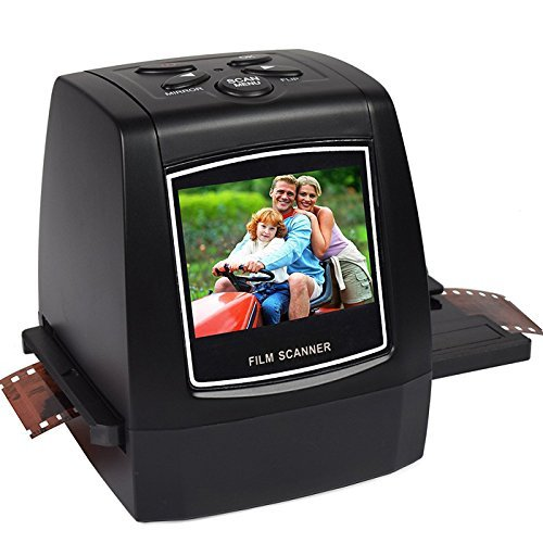 """7dayshop Escaner HD portátil de 22MP para diapositivas y negativos de 35 mm, Súper 8 mm, 110 Cine, 126 películas y 127 de Cine. Pantalla de 2,4 """" en colores LCD con 16 GB Tarjeta SDHC"""