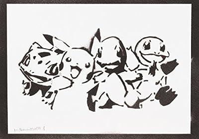 Pokemon Hecho A Mano - Handmade Street Art Poster