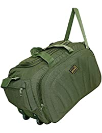 761a2a868f alfisha Lightweight Waterproof Luggage Travel Duffel Bag with Extra  Compartments   Roller wheels