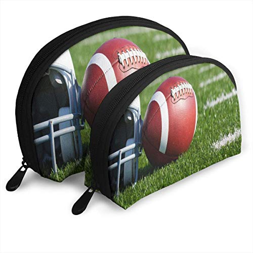 Beutel Reißverschluss Kulturveranstalter Reise Make-up Clutch Bag American Football Feld Aufbewahrungstaschen