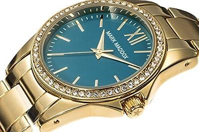Mark Maddox MM3015-27 - Reloj de Cuarzo para Mujer, Correa de Otros Materiales Color Dorado de Mark Maddox