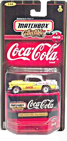 1998 - Mattel - Matchbox Collectibles - Coca-Cola - 1955 Chevy Bel Air Hardtop - 1:64 Scale - Die Cast Metal - New - OOP - Collectible by Matchbox