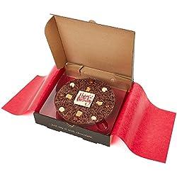 """Gourmet Schokolade Pizza. Belgische Schokolade Pizza 7"""" - Happy Birthday"""