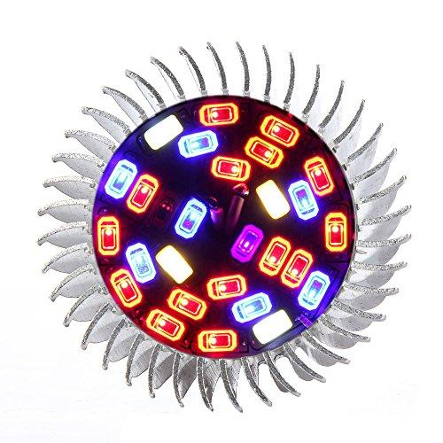 Amstt Pflanzenlampe Vollspektrum E27 28W LED Pflanzenlampen für Zimmerpflanzen, Blumen und Gemüse Pflanzenbeleuchtung Grow Lampe