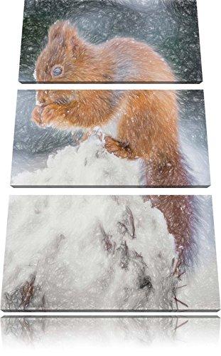 piccolo-scoiattolo-in-inverno-bunstift-effetto-immagine-canvas-3-pc-120x80-immagine-sulla-tela-xxl-e