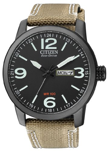 Citizen Herren-Armbanduhr XL Analog Quarz Nylon BM8476-23EE