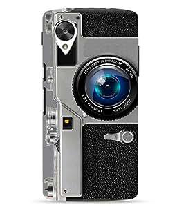 Make My Print Camera Printed Grey Hard Back Cover For LG Google Nexus 5X