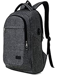 MarsBro Laptop Backpack, Business Travel Backpack with USB Charging Port Anti-Theft Water Resistant College School Work Rucksack for Women and Men Fits 15.6 Inch Laptop and Notebook, Grey