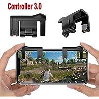 Mando del botón (handle grip) de 1 pares de juegos para teléfonos móviles Controlador de tiradores L1-R1(Negro)