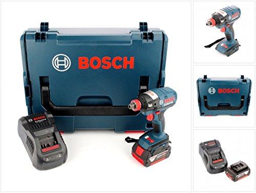 Preisvergleich Produktbild Bosch GDX 18 V-EC Professional 18 V Akku Drehschlagschrauber in L-Boxx, Schnellladegerät und 1x GBA 6 Ah Akku