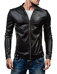 BOLF - Veste - Faux cuir - Fermeture éclair – MIX – Homme