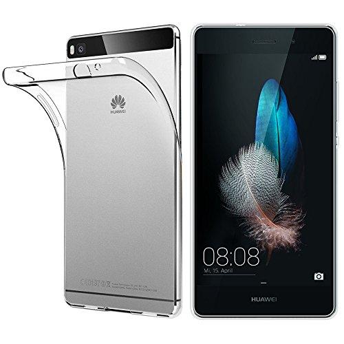 ebestStar - Huawei P8 Lite Hülle Handyhülle [Ultra Dünn], Premium Durchsichtige Klar TPU Schutzhülle, Soft Flex Silikon, Transparent [P8 Lite: 143 x 70.6 x 7.7mm, 5.0'']