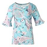 Cuteelf Schwangere Frauen Shirt Trompete Ärmel Blumendruck Multifunktions-Stillen T-Shirt Shirt Schwangere Frauen Trompete Ärmel Blumendruck Stillen T-Shirt Stillen
