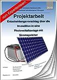 Technischer Betriebswirt - Projektarbeit und Präsentation - IHK- Photovoltaikanlage mit Stromspeicher